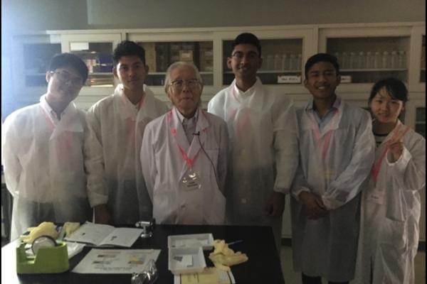 With Nobel Laureate Professor Hideki Shirakawa.