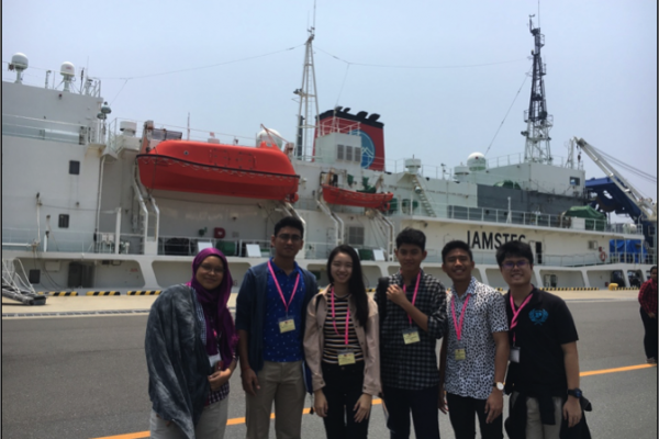 In front of JAMSTEC.