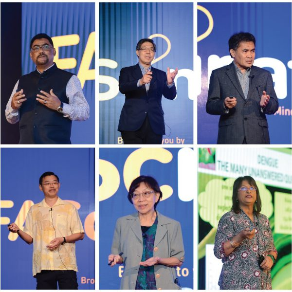 Clockwise from top left: Ir Ts Mohamed Haniffa, Dato' Ir Dr Eric Goh, Dato' Dr Zainal Ariff, Dr Shamala Devi, Dr Yun Fong, and Dr Dominic Foo